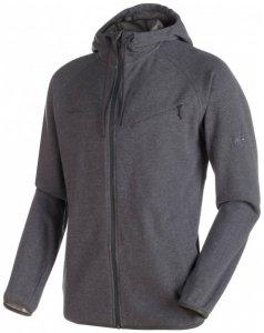 Mammut - Mammut Logo ML Hooded Jacket - Freizeitjacke Gr M schwarz/grau