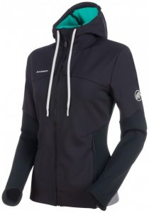 Mammut - Women's Alnasca ML Hooded Jacket - Fleecejacke Gr L schwarz