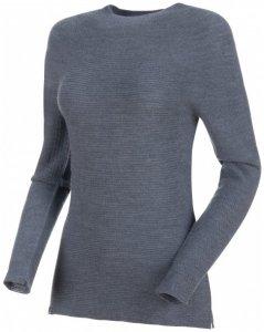 Mammut - Women's Alvra ML Pull - Merinopullover Gr XL grau/schwarz