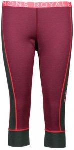 Mons Royale - Women's Alagna 3/4 Legging - Merinounterwäsche Gr S rot/rosa