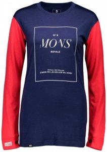 Mons Royale - Women's Boyfriend L/S Stack Gr L;M;S;XS blau