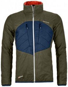 Ortovox - Swisswool Dufour Jacket - Wolljacke Gr XL schwarz/oliv/blau