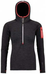 Ortovox - Women's Fleece Light Melange Zip Neck Gr L schwarz