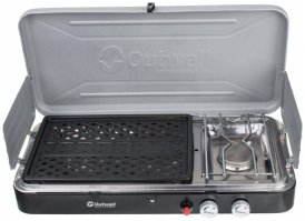 Outwell - Chef Cooker 2-Burner Stove with Grill - Gaskocher schwarz/grau