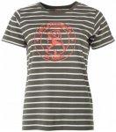 66 North - Women's Original Sailor Logo Striped - T-Shirt Gr XS grau/oliv