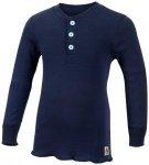 Aclima - Kid's WW Granddad Shirt Children - Merinopullover Gr 150 blau/schwarz
