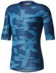 adidas - Primeknit Longsleeve Effect - Laufshirt Gr M blau