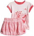 adidas - Summer Set Fun Girls - T-Shirt + Shorts Gr 86;92 rosa/grau