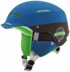 Alpina - Kid's Spam Cap - Skihelm Gr 50-54 cm blau/schwarz