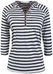Alprausch - Women's Sandrine Hooded Tee - Longsleeve Gr S;XS blau;grau/schwarz