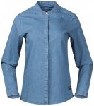 Bergans - Women's Oslo Shirt - Bluse Gr M;XS blau/schwarz