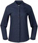 Bergans - Women's Oslo Shirt - Bluse Gr M blau/schwarz