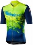 Castelli - Polvere Jersey - Radtrikot Gr M;S grau/schwarz;grün/blau