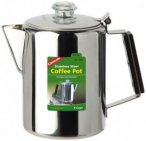 Coghlans - Edelstahlkanne Coffee Pot - Topf Gr 12 Tassen;9 Tassen grau/schwarz