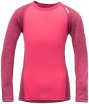 Devold - Breeze Kid Shirt - Merinounterwäsche Gr 4 years rosa/rot