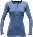 Devold - Hessa Woman Button Shirt - Longsleeve Gr S blau