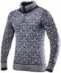 Devold - Svalbard Sweater Zip-Neck - Merinopullover Gr L grau/schwarz
