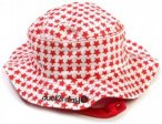 Ducksday - Kid's Matching Hat - Hut Gr M rot/rosa/weiß