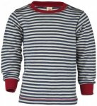 Engel - Kinder Pullover - Merinopullover Gr 116 grau/schwarz