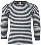 Engel - Kinder Shirt L/S - Merinounterwäsche Gr 176 grau/schwarz