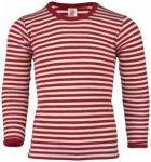 Engel - Kinder Shirt L/S - Merinounterwäsche Gr 176 rot/beige