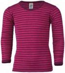 Engel - Kinder Unterhemd L/S - Merinounterwäsche Gr 164 lila/rosa