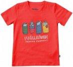 Fjällräven - Kids Sleeping Foxes T-Shirt - T-Shirt Gr 110 rot