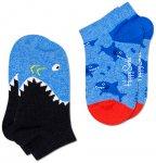 Happy Socks - Kid's Shark Low Sock 2-Pack - Multifunktionssocken  12-24 Month bl