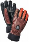 Hestra - Army Leather Wool Terry 5 Finger - Handschuhe Gr 7 grau/rot