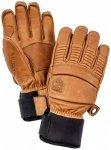 Hestra - Leather Fall Line 5 Finger - Handschuhe Gr 7 braun/beige/orange/schwarz