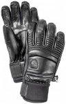Hestra - Leather Fall Line 5 Finger - Handschuhe Gr 8 schwarz/grau