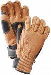 Hestra - Peccary Ski de Cuir 5 Finger - Handschuhe Gr 9 beige/braun