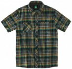 Hippy Tree - S/S Button Up Moab Flannel - Hemd Gr M schwarz/oliv/braun