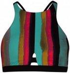 Hurley - Women's Quick Dry Resin High Neck - Bikini-Top Gr XS schwarz/türkis/br