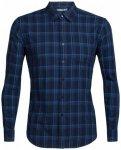 Icebreaker - Compass Flannel L/S Shirt - Hemd Gr L;M;S;XL;XXL blau;blau/türkis;