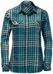 Jack Wolfskin - Women's Valley Shirt - Bluse Gr M türkis/grau