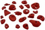 KMZ Holds - Set 1 - 22er S-XL Klettergriffset oliv;türkis;rot