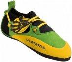 La Sportiva - Kids Stickit - Kinderkletterschuhe Gr 26/27 orange/schwarz/grün