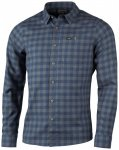 Lundhags - Ekren L/S Shirt - Hemd Gr XL blau/schwarz/grau