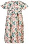 Minymo - Girl's Dress S/S All Over Print - Kleid Gr 104 grau/weiß/beige