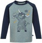 Minymo - Kid's T-Shirt L/S Print Boy - Longsleeve Gr 104 grau/schwarz