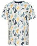 Minymo - Kid's T-Shirt S/S Aop Boy II - T-Shirt Gr 116 grau/weiß