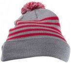 Mons Royale - Stripe Pom-Pom Beanie - Mütze Gr One Size grau/rosa
