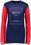 Mons Royale - Women's Boyfriend L/S Stack Gr L;M;XS blau