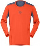 Norrøna - Falketind Super Wool Shirt - Longsleeve Gr L;M;S;XL schwarz;rot;grün