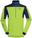 Norrøna - Falketind Warm1 Stretch Sweater - Fleecepullover Gr L grün/blau
