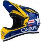 O'Neal - Fury Helmet - Radhelm Gr XL blau/schwarz/orange