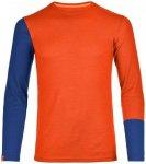 Ortovox - R 'N' W Long Sleeve - Merinounterwäsche Gr L rot/blau/orange