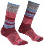 Ortovox - Women's All Mountain Mid Socks Warm - Wandersocken 42-44 rot/grau/rosa