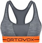 Ortovox - Women's 185 Rock'N'Wool Sport Top - Sport-BH Gr XS grau/orange